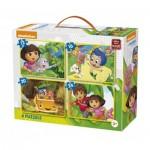 4 Puzzles - Nickelodeon & Dora