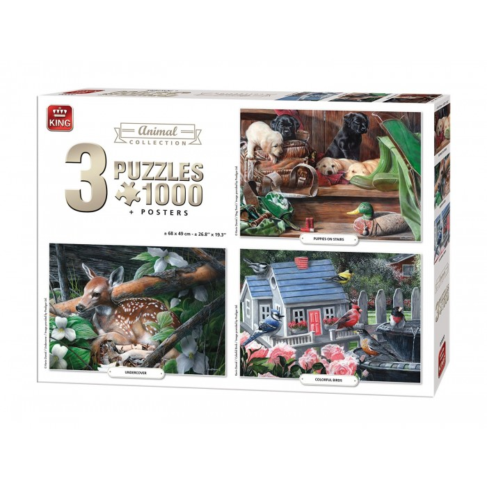 3 Puzzles - Animals Collection