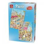 King-Puzzle-05491 2 Puzzles - Comic : Paris + Pise