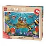 Puzzle  King-Puzzle-05534 Pièces XXL - Tortues dans la Mer