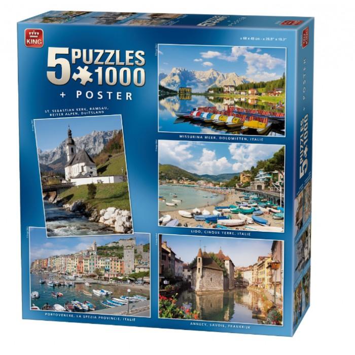 5 Puzzles 1000 Pièces - Belle Europe