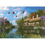 Puzzle  KS-Games-11272 Dominic Davison : Le Vieux Cottage au Bord de la Rivière
