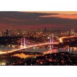 Puzzle  KS-Games-11288 Turquie, Istanbul : Le Pont du Bosphore Illuminé