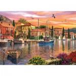 Puzzle  KS-Games-11308 Dominic Davison : Coucher de Soleil sur le Port
