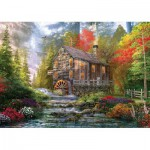 Puzzle  KS-Games-11356 Dominic Davison : Le Vieux Moulin en Bois