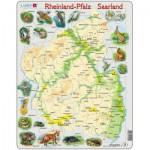 Larsen-A2 Puzzle Cadre - Reinland-Pfalz/ Saarland (en Allemand)