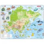Larsen-A30-2 Puzzle Cadre - Carte de l'Asie (en Anglais)