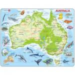 Larsen-A31-GB Puzzle Cadre - Carte de l'Australie (en Anglais)