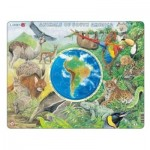 Larsen-AW5-FR Puzzle Cadre - Animaux d'Amérique du Sud (en Français)