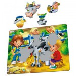 Larsen-BM5 Puzzle Cadre - Les Enfants à la Ferme