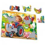 Larsen-BM7 Puzzle Cadre - Les Enfants à la Ferme