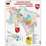 Larsen-K27 Puzzle Cadre - Bundesland : Bremen and Niedersachen (en Allemand)