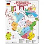 Larsen-K28 Puzzle Cadre - Bundesland : Hamburg and Schleswig-Holstein (en Allemand)