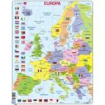 Larsen-K2T-DE Puzzle Cadre - Carte de l'Europe (en Allemand)