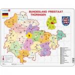 Larsen-K33 Puzzle Cadre - Bundesland : Freistaat Thüringen (en Allemand)