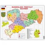 Larsen-K34 Puzzle Cadre - Bundesland : Freistaat Sachsen (en Allemand)