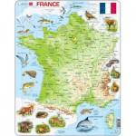 Larsen-K49 Puzzle Cadre - Carte de la France