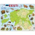 Larsen-K66 Puzzle Cadre - Carte de l'Estonie (en Estonien)