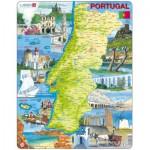 Larsen-K71 Puzzle Cadre - Carte du Portugal (en Portugais)
