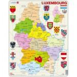 Larsen-K77 Puzzle Cadre - Carte du Luxembourg (en Français)
