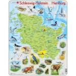 Larsen-K87 Puzzle Cadre - Schleswig Holstein / Hamburg (en Allemand)