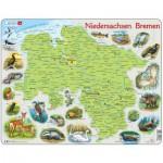 Larsen-K88 Puzzle Cadre - Niedersachsen / Bremen (en Allemand)