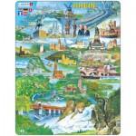 Larsen-KH8 Puzzle Cadre - Souvenirs du Rhin (en Allemand)