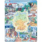 Larsen-KS2 Puzzle Cadre - Sites Touristiques d'Allemagne