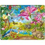 Larsen-NB4-DE Puzzle Cadre - Les Fleurs et les Abeilles (en Allemand)