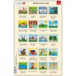 Larsen-RA13-25 Puzzle Cadre - Apprendre l'Anglais : Read and Look 25 (en Anglais)