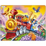 Larsen-US14 Puzzle Cadre - Le Train des Animaux