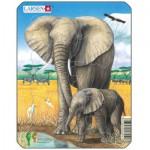 Larsen-V4-3 Puzzle Cadre - Eléphants