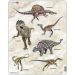 Larsen-X12 Puzzle Cadre - Dinosaures