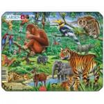 Larsen-Z8-4 Puzzle Cadre - Animaux de la Jungle
