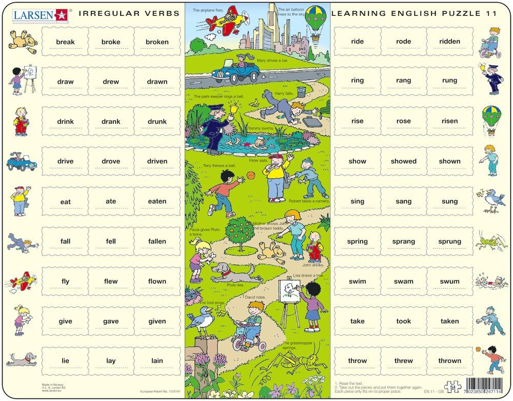 Puzzle Cadre - Apprendre l'Anglais 11 : Les Verbes ...