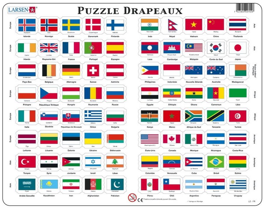 drapeau du monde avec leur nom - Image