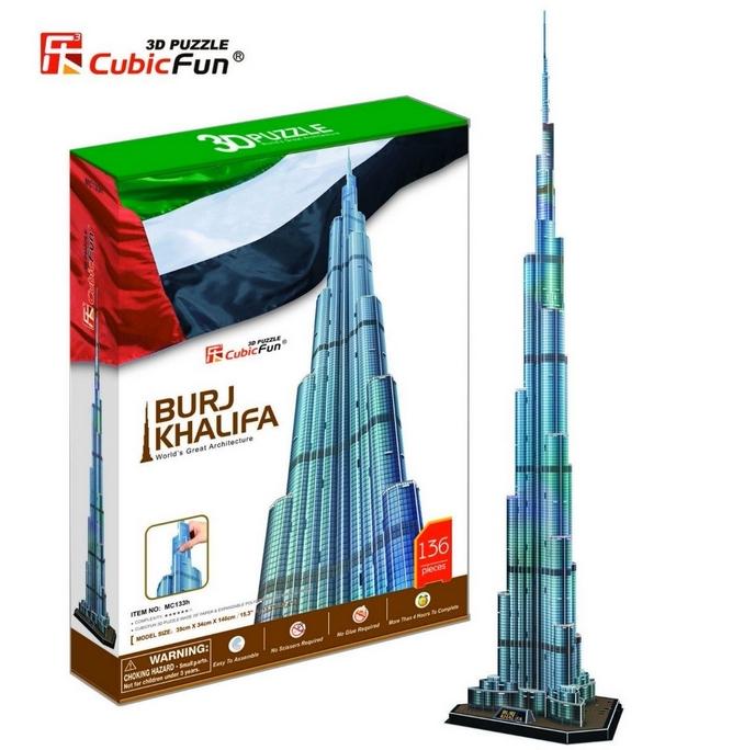 Puzzle 3D - Dubaï : Burj Khalifa (Difficulté : 8/8) Cubic Fun