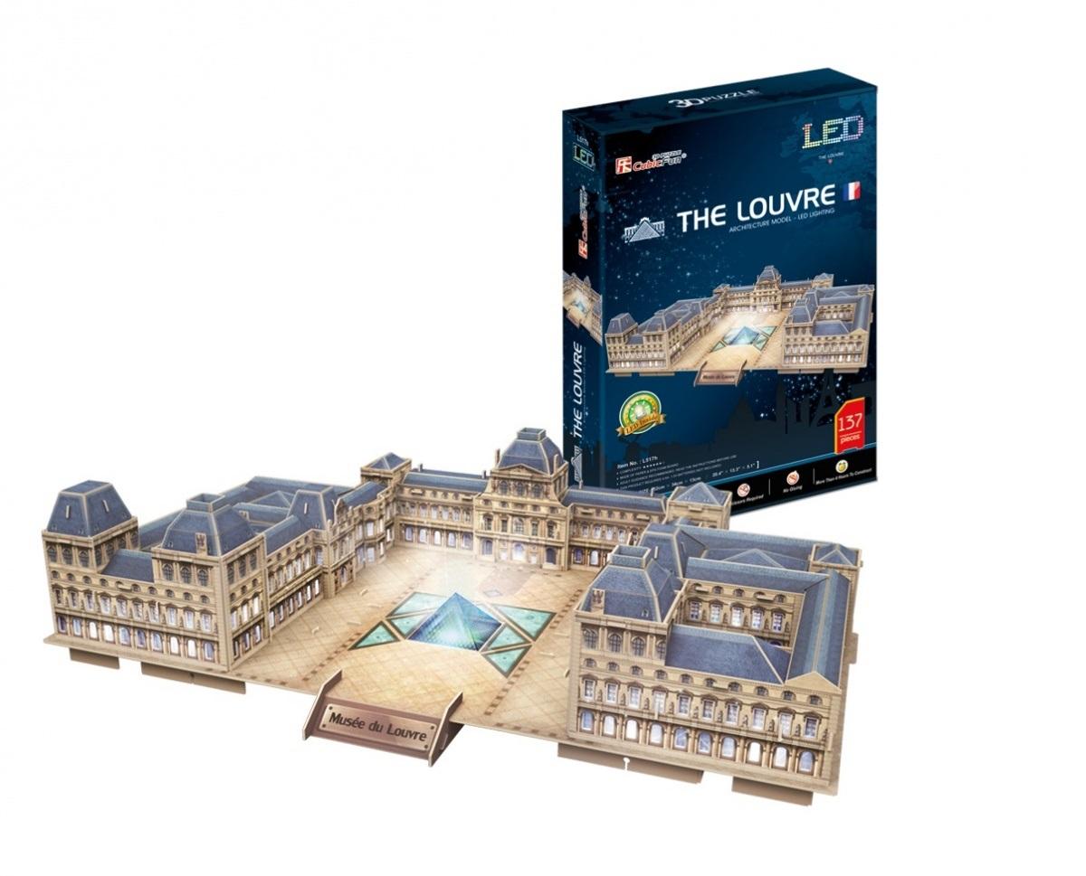 Puzzle 3D avec LED - Le Louvre - Difficulté : 6/8 Cubic Fun