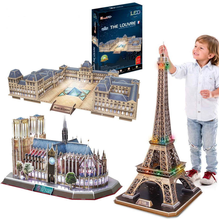 3 Puzzles 3D - Paris Cubic Fun