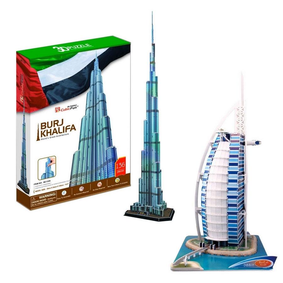 2 Puzzles 3D - Set Dubai Cubic Fun