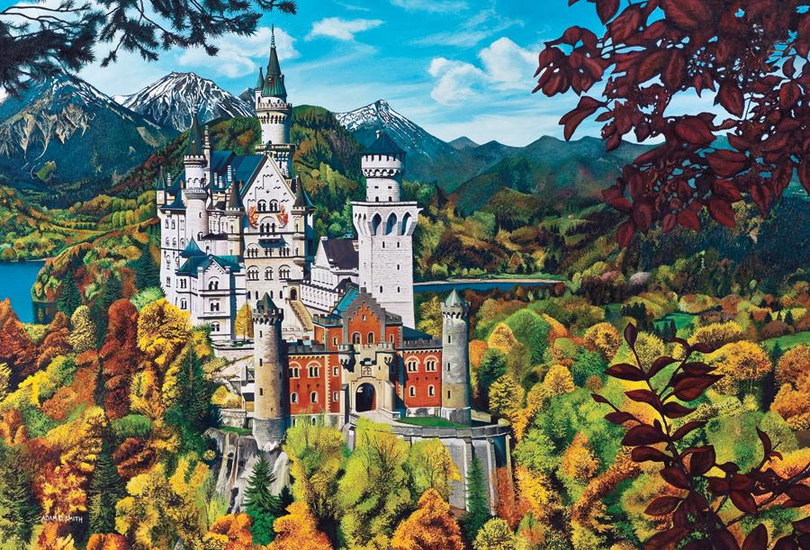 Puzzle Allemagne : Le Château de Neuschwanstein Cobble Hill / Outset Media