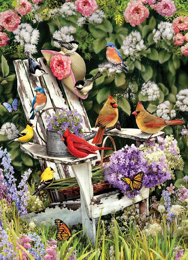 Puzzle Oiseaux d´été sur la Chaise de Jardin Cobble Hill / Outset Media