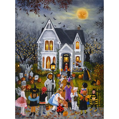 Puzzle Susan Rios - Scary Night Sunsout-45430 1000...