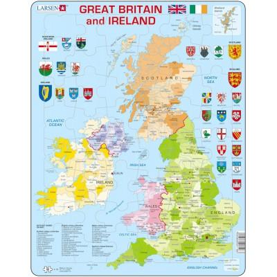 Carte Royaume Unis.Puzzle Cadre Carte Du Royaume Uni En Anglais
