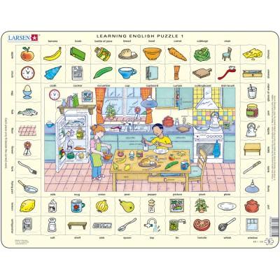 Puzzle cadre apprendre l 39 anglais 1 dans la cuisine en for Arrangement petite cuisine