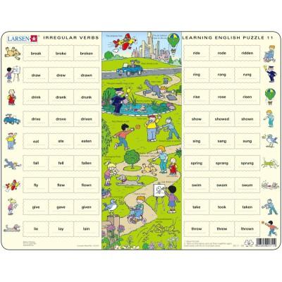 Puzzle Cadre Apprendre L Anglais 11 Les Verbes Irreguliers En Anglais Larsen En11 Gb 54 Pieces Puzzles Educatifs Et Ludiques Planet Puzzles