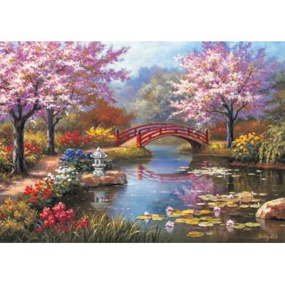 Puzzle jardin japonais en fleurs ks games 11235 1000 for Paysage jardin japonais