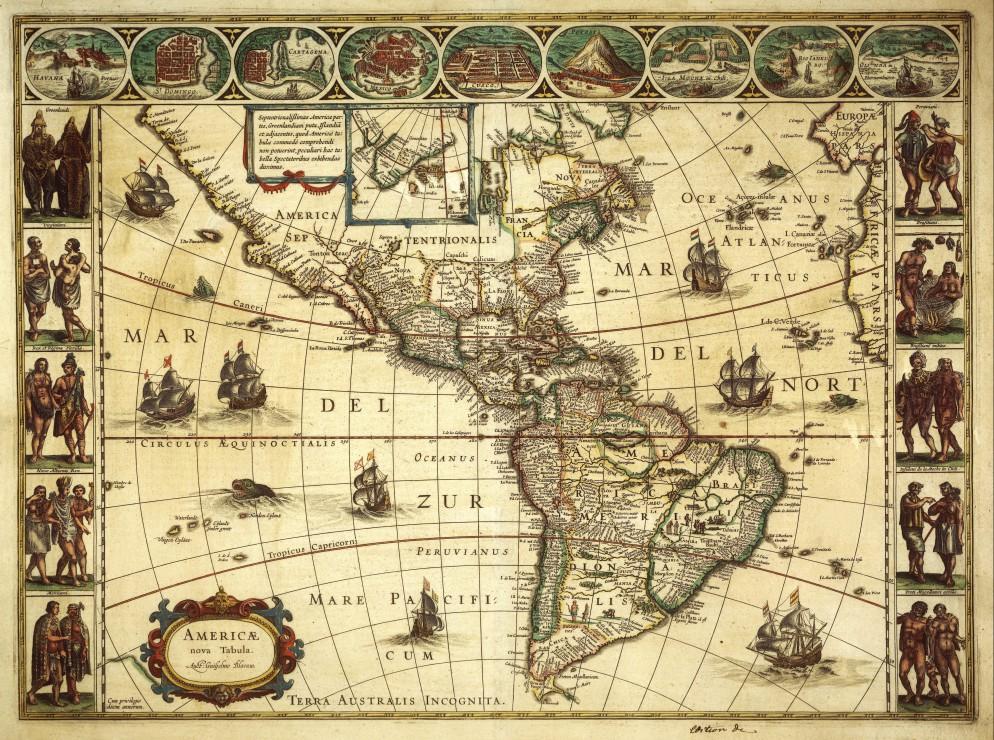 Puzzle Willem Janszoon Blaeu : Carte de l´Amérique en 1645