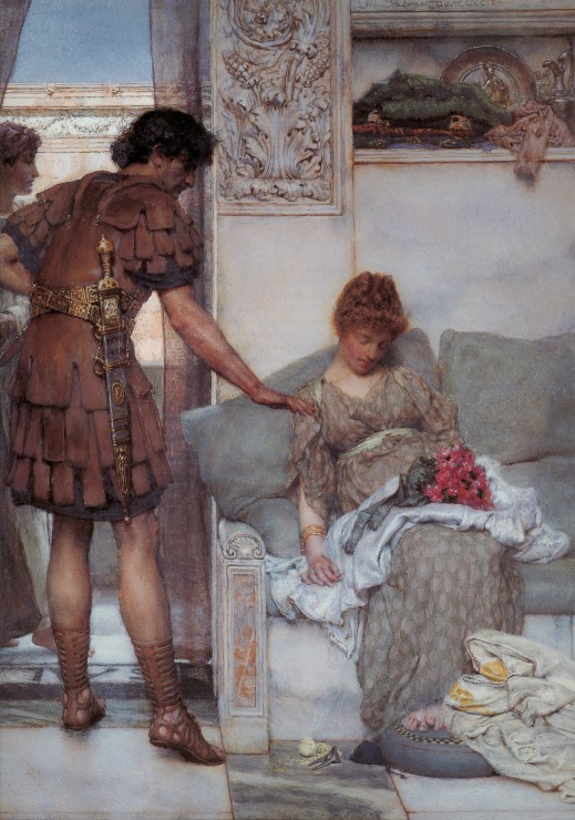 Puzzle Sir Lawrence Alma-Tadema : A Silent Greeting Grafika