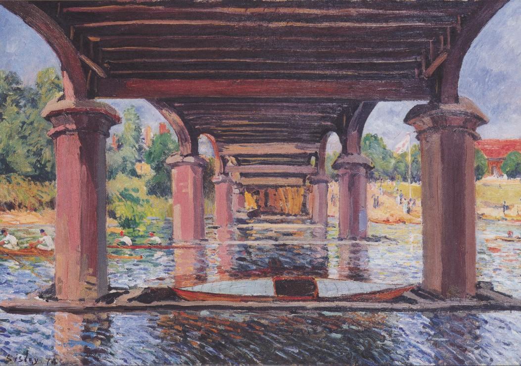 Puzzle Alfred Sisley : Sous le Pont de Hampton Court, 1874 Grafika